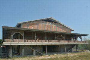 Proyek Pembangunan Auditorium GP 5 Tampak dari Belakang