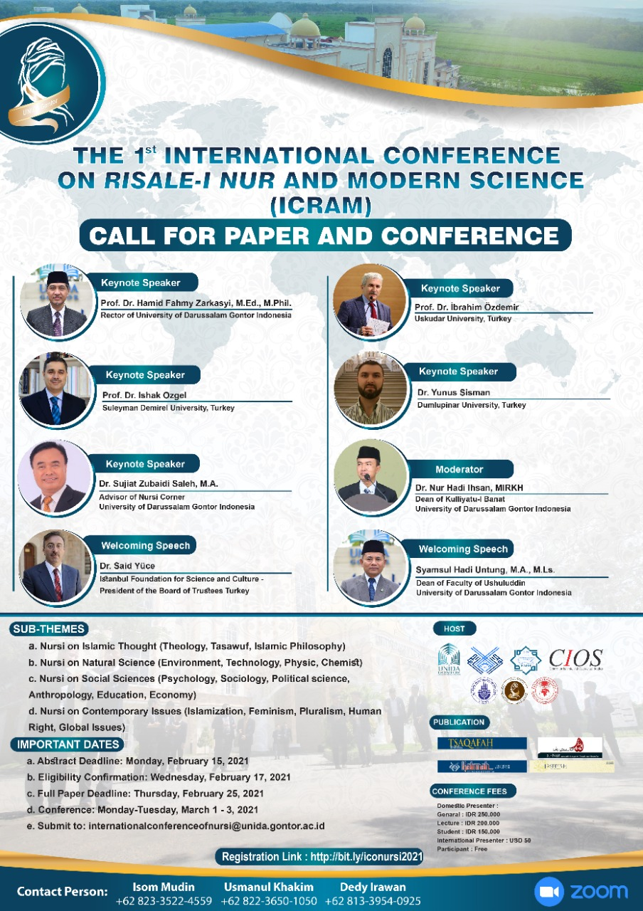 ICRAM; Research Conference of Nursi's Thoughts